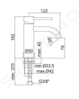 LIGHT RUBINETTO LAVABO MONOLEVA SENZA PILETTA codice prod: LIG071CR product photo Foto1 L2