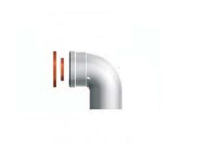 CURVA COASSIALE 90° MF CONDENS    60/100 codice prod: 3318075 product photo