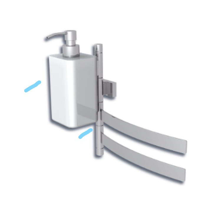 DUECENTO DISPENSER PER PORTA SALVIETTE SNODO CROMATO codice prod: 11804780200 product photo
