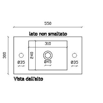 PLUS DESIGN 6035S LAVABO SOSPESO BIANCO codice prod: 6035S product photo Foto1 L2