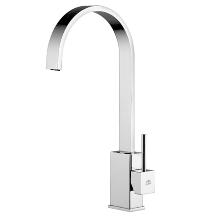 LEVEL LEA880 MISCELATORE LAVELLO BOCCA GIREVOLE PIATTA LEVA ASTA CROMATO codice prod: LEA880CR product photo