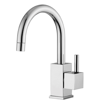LEVEL LEA091 MISCELATORE LAVABO BOCCA GIREVOLE LEVA ASTA CROMATO codice prod: LEA091CR product photo Default L2