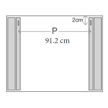 CONFORT LINE LED LC0319 SPECCHIO LUNGHEZZA 105 ALTEZZA 70 ILLUMINAZIONE LATERALE codice prod: LC0319 product photo Foto1 L2