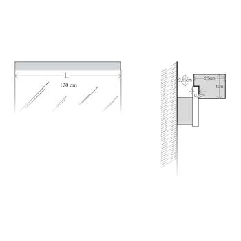 SARTORIA 7917/CA LAMPADA LED L120 3000K codice prod: 7917/CA product photo Foto2 L2