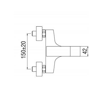 SEVEN RUBINETTO VASCA A PARETE codice prod: SE124110/1CR product photo Foto2 L2