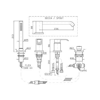 ON RUBINETTO BORDO VASCA codice prod: ZON455 product photo Foto1 L2