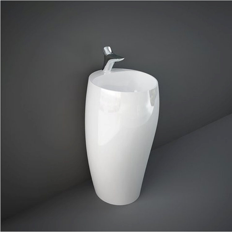 CLOUD CLOFS5001AWHA LAVABO FREESTANDING L50 BIANCO ALPINO codice prod: CLOFS5001AWHA product photo