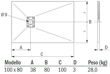 CARPET MATT PIATTO DOCCIA 100X 80 ANTRACITE codice prod: DSV14224NE product photo Default L2