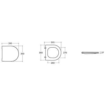 FORTY3 SEDILE WC43.36/58.36 CHIUSURA RALLENTATA BIANCO BIANCO UCIDO codice prod: FO022BI product photo Foto1 L2