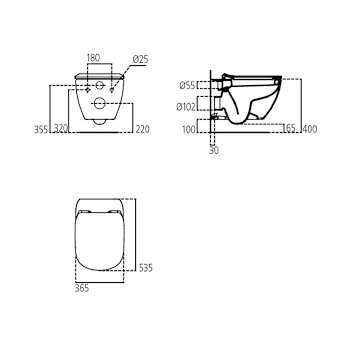 TESI NEW WC SOSPESO SEDILE SLIM codice prod: T354201 product photo Foto1 L2