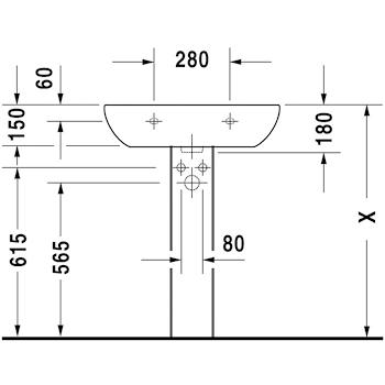 D-CODE LAVABO 1 FORO 65X50 codice prod: 2310650000 product photo Foto1 L2
