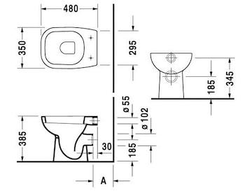D-CODE WC SCARICO A PARETE codice prod: 2108090000 product photo Foto1 L2