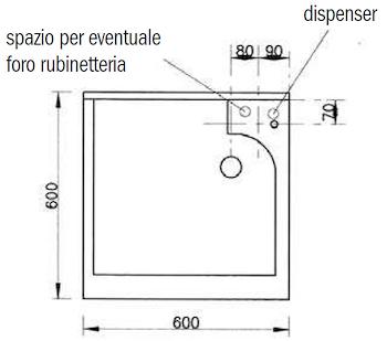 BASIC MOBILE CON LAVATOIO 60X60 SAPONE DX codice prod: DSV13469 product photo Foto1 L2