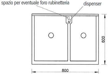 BASIC MOBILE CON LAVATOIO 80X60 2 BUCHE codice prod: DSV13470 product photo Foto1 L2