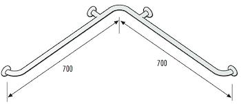 DSV06802 CORRIMANO ANGOLO ACCIAIO RIVEST. NYLON codice prod: DSV06802 product photo Default L2