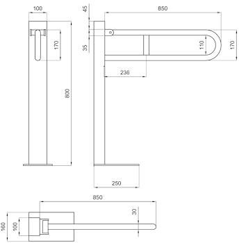 DSV11167 EXPORT BARRA SOSTEGNO RIBALTABILE SU codice prod: DSV11167 product photo Foto1 L2