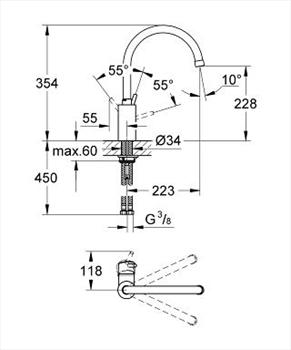 CONCETTO MISCELATORE A BOCCA ALTA PER LAVELLO codice prod: 32661001 product photo Foto3 L2