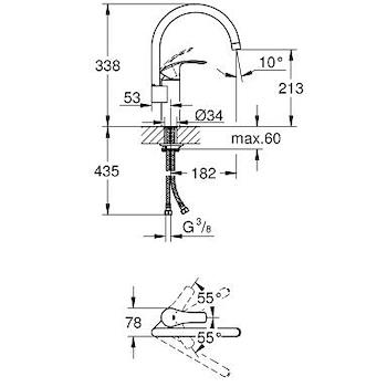 EUROSMART NEW MISCELATORE A BOCCA ALTA PER LAVELLO codice prod: 33202002 product photo Foto1 L2