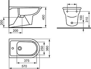 CLODIA BIDET SOSPESO 1 FORO codice prod: J051100 product photo Foto1 L2