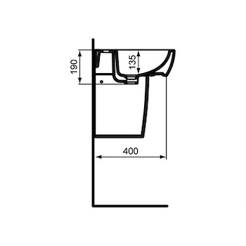 GEMMA2 LAVABO 1 FORO 50X44 codice prod: J521401 product photo Foto1 L2