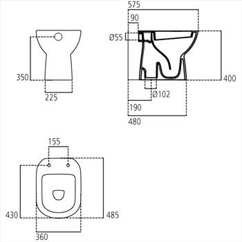 GEMMA2 WC NON UNI SCARICO A PAVIMENTO codice prod: J522201 product photo Foto1 L2