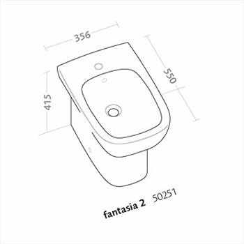 FANTASIA2 BIDET FILO PARETE 1 FORO codice prod: 50251000 product photo Foto1 L2
