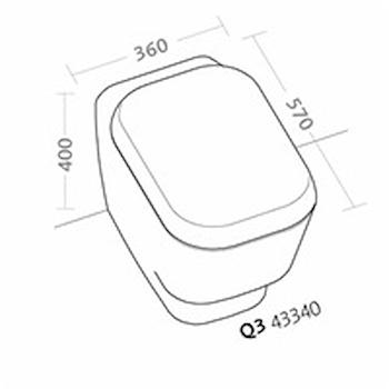 Q3 WC SCARICO MULTI CON SEDILE RALLENTATO codice prod: 43340000 product photo Foto1 L2
