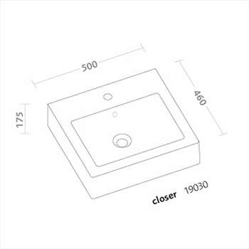 CLOSER LAVABO 1 FORO 50X46 codice prod: 19030000 product photo Foto1 L2