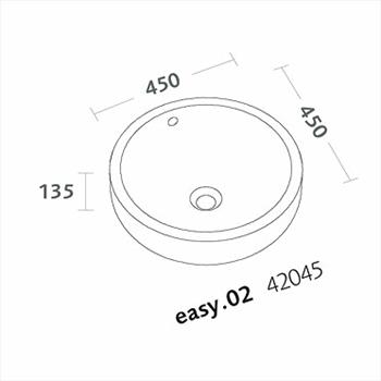 EASY.02 LAVABO BACINELLA APP 45 codice prod: 42045000 product photo Foto1 L2