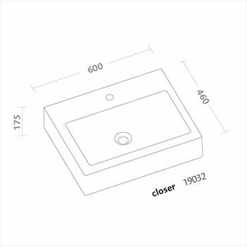 CLOSER LAVABO 1 FORO 60X46 codice prod: 19032000 product photo Foto1 L2