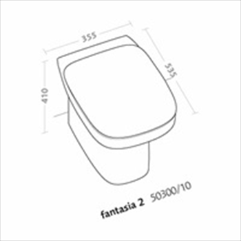 FANTASIA2 WC SCARICO PARETE codice prod: 50310000 product photo Foto1 L2