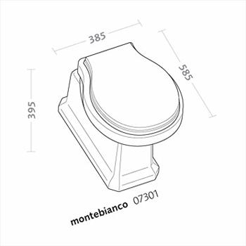 MONTEBIANCO 07301000 VASO SCARICO A PAVIMENTO codice prod: 07301000 product photo Foto1 L2