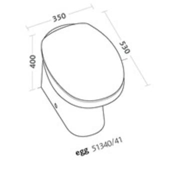 EGG WC SCARICO A PAVIMENTO CON SEDILE codice prod: 51340000 product photo Foto1 L2