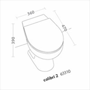 COLIBRI'2 WC SCARICO PARETE codice prod: 63310000 product photo Foto1 L2