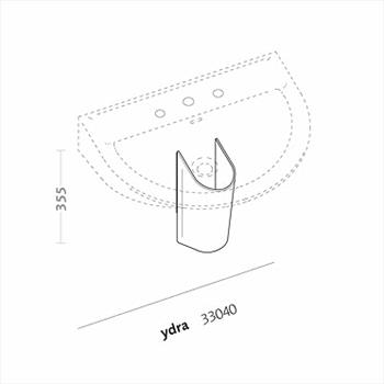 YDRA 33040000 LAVABO 1/3 FORI 63X51 codice prod: 33040000 product photo Foto1 L2