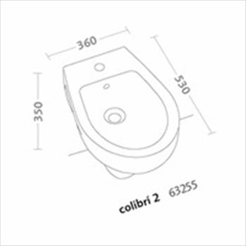 COLIBRI'2 BIDET SOSPESO 1 FORO codice prod: 63255000 product photo Foto1 L2
