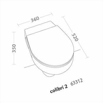 COLIBRI'2 WC SOSPESO SCARICO PARETE codice prod: 63312000 product photo Foto1 L2