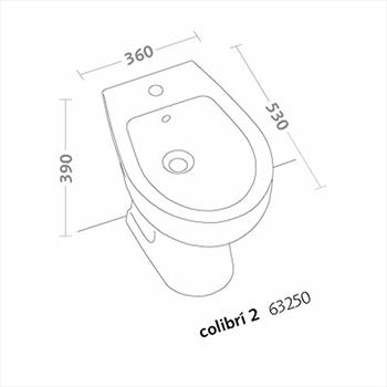COLIBRI'2 BIDET 1 FORO codice prod: 63250000 product photo Foto1 L2