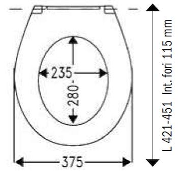 UNIVERSALE SEDILE DUROPLAST OVALE TAKE OFF ULTRAPIATTO TERMOINDURENTE BIANCO codice prod: DSV15006 product photo Foto1 L2