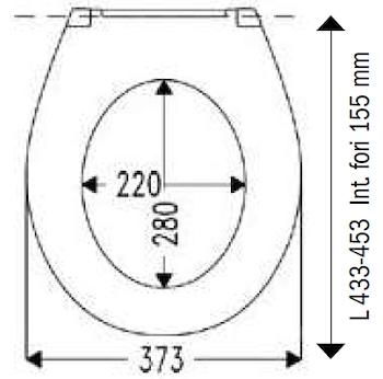 UNIVERSALE SEDILE DUROPLAST CERNIERE INOX BIANCO codice prod: DSV13920 product photo Foto1 L2
