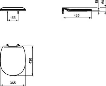 CONNECT SEDILE WC SLIM BIANCO codice prod: E772301 product photo Foto1 L2