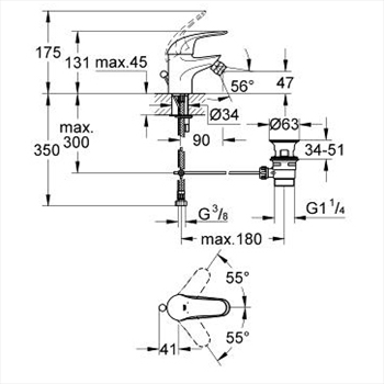 EUROECO MISCELATORE STANDARD PER BIDET codice prod: 23263000 product photo Foto1 L2