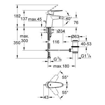 EURODISC COSMOPOLITAN MISCELATORE STANDARD PER BIDET codice prod: 33244002 product photo Foto1 L2