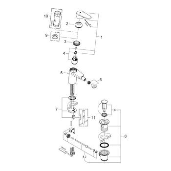 EURODISC COSMOPOLITAN MISCELATORE STANDARD PER BIDET codice prod: 33244002 product photo Foto2 L2