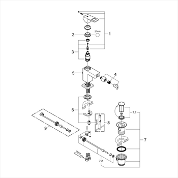 EUROCUBE MISCELATORE STANDARD PER BIDET codice prod: 23138000 product photo Foto2 L2