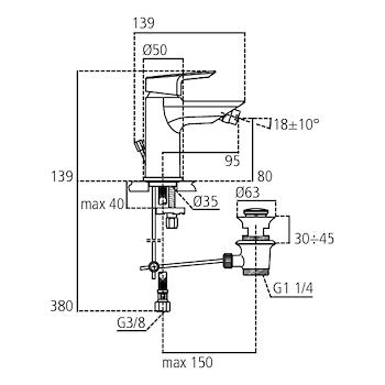 CERAMIX A6545AA MISCELATORE STANDARD PER BIDET CROMATO codice prod: A6545AA product photo Foto1 L2