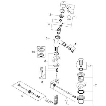 CONCETTO MISCELATORE STANDARD PER BIDET codice prod: 32208001 product photo Foto2 L2