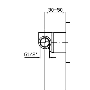 PAN CORPO INCASSO PER MISCELATORE DOCCIA codice prod: R99686 product photo Default L2
