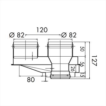 KIT SDOPPIATORE ARIA/FUMI 80/ 82- 82 codice prod: 1550579 product photo Default L2
