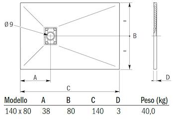 Riparare Piatto Doccia In Resina.Mineral Piatto Doccia 140x80 Antracite Scelto Da Desivero Piatto